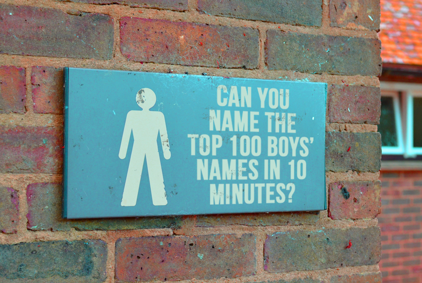 How Many Of The Top 100 Boys Names Can You Name In 10 Minutes